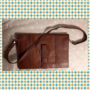 Unisex Real leather crossbody purse vintage